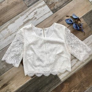 H&M cropped blouse small